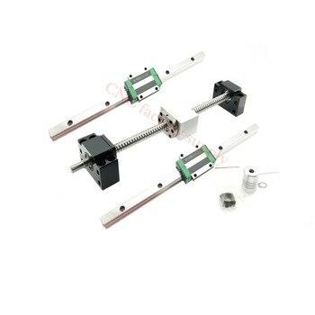 3D print parts CNC router SFU1605-500 600 SFU1204-L-800mm900mm ballscrew set+HGR15 linear rail+HGH15CA carriage or HGW15CA block