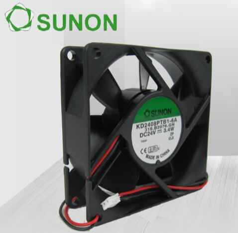 Original SUNON 8025 24V KD2408PTB1-6A 3.4W 2 line converter heat dissipation fan