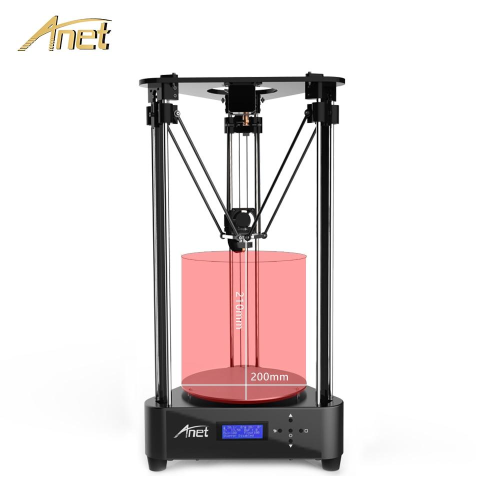 Anet A4 3D imprimante kit bricolage Delta Structure poulie ou linéaire 3D taille d'impression diamètre 200*210mm avec PLA Filament impresora 3d
