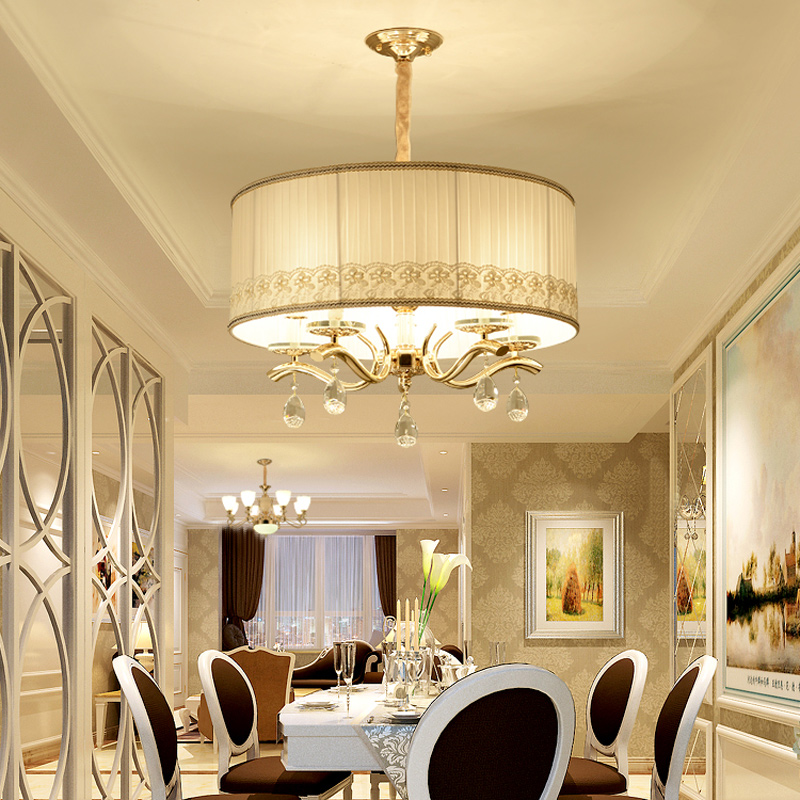 modern American style fabric  room lights high-end atmosphere bedroom study pendant lights LO894