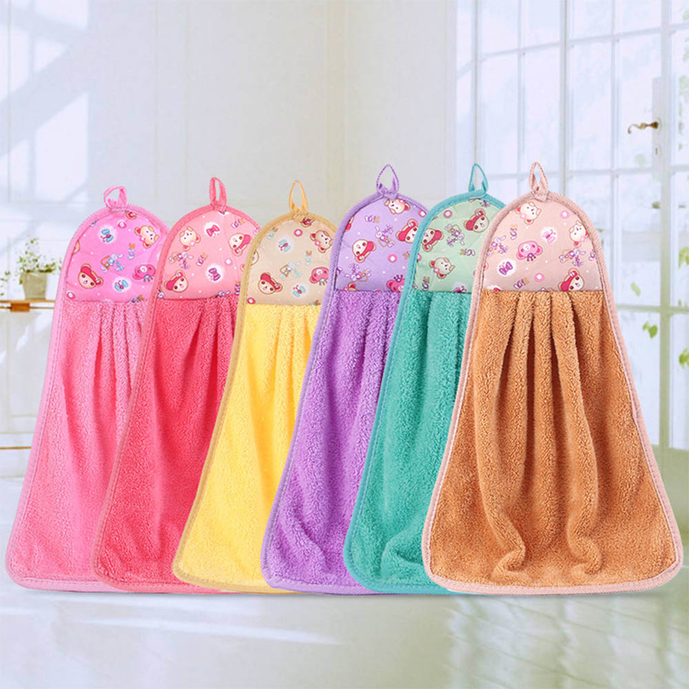 Cartoon Bear Towel Hand Tower Hand Dry Towel Clearing Lovely Colorful Animal Towel For Kitchen Bathroom Office Car Use P20