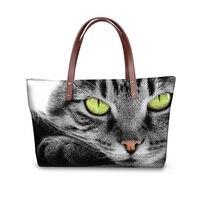 FORUDESGISNS Gray 3D Cat Handbag Women Casual Cross body Bags Animal Pattern Woman Messenger Bag Bolsa Feminine Ladies Tote 2017
