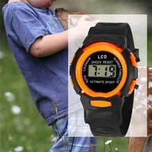 Детский светодиодный цифровой Электронные часы для мальчиков и девочек, студенческие спортивные детские часы, модные водонепроницаемые детские наручные часы в подарок, А4