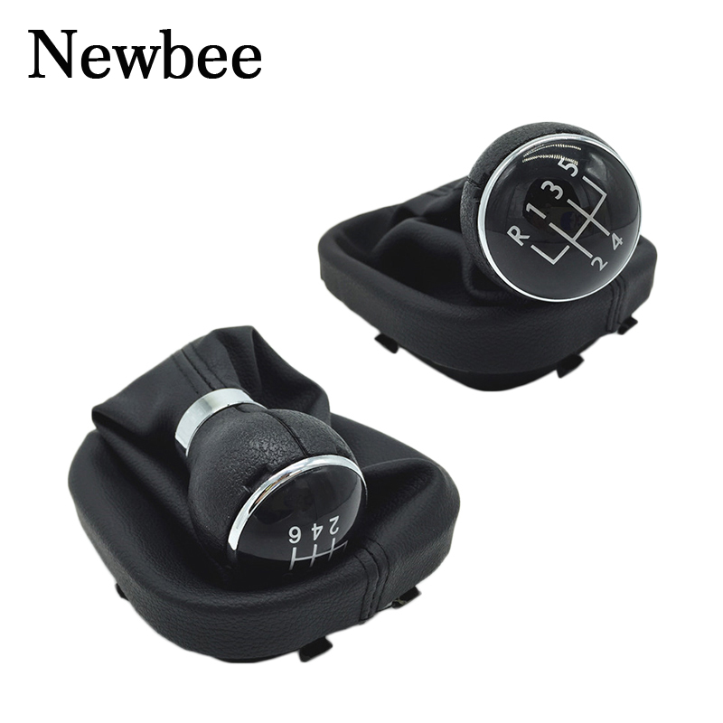 Interior Parts Automobiles & Motorcycles Free Shipping Car Gear Shift Knob Lever Gaitor Boot Cover 5 Speed For Vw Caddy 2 Ii Mk2 Touran 2004-2009