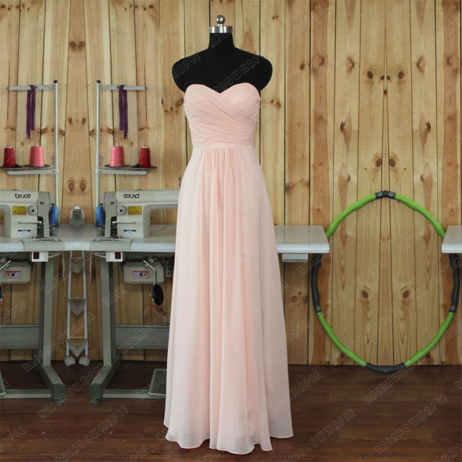 Elegant long light pink bridesmaid dress 2016 halter pleat chiffon elegant long light pink bridesmaid dress 2016 halter pleat chiffon bridesmaid dresses peach cheap bridesmaids dresses b2 in bridesmaid dresses from weddings ombrellifo Image collections