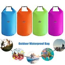 Водонепроницаемый сухой мешок пакет 5L 10L 20L 40L складная сумка для хранения плавания Открытый рафтинг Каякинг река треккинг плавающие сумки