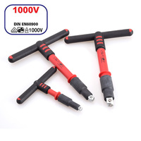 1/4 3/8 1/2 1000V Insulated T handle wrench IEC60900 certification Insulation spanner insulating VDE Electrician tools