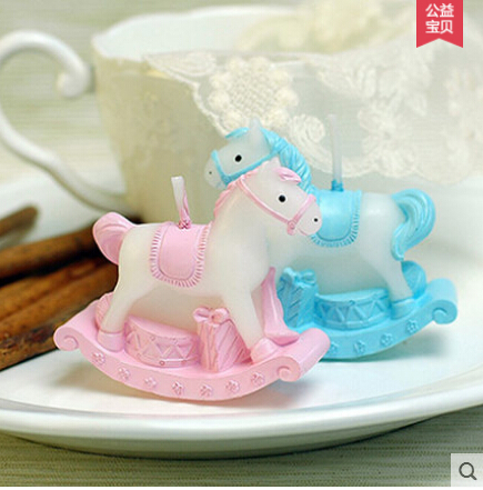 Candle Mould Mold Cake Cake Decoration Mold Fondant Mold PRZY Carousel Shaped Silicon 3D Children's Birthday Party DIY Silicone