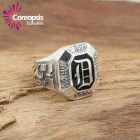 2017 das Mulheres Do Vintage Anéis 925 Sterling Sliver Jóias Artesanais do vintage Thai anel de prata masculino vampire Diary-D palavra anel
