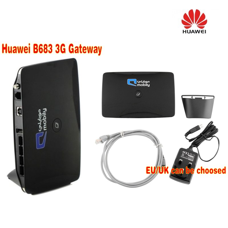 Fabrik Unlocked Huawei B683 HSDPA 3.75G 28 Mbps Wireless Router USB + RJ11-Anschluss