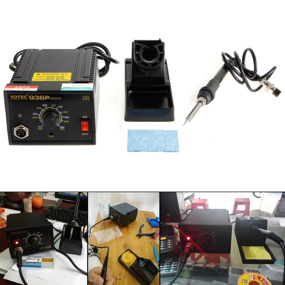 936 Power Electric Soldering Station SMD Rework Welding Iron 110V 220V #G205M# Best Quality 936 power electric soldering station smd rework welding iron w stand 110v 220v g205m best quality