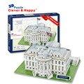 Умный и счастливую землю 3d головоломки модель в белый дом ( сша ) для взрослых головоломки бумага для поделок выше 10 лет игры для детей бумага