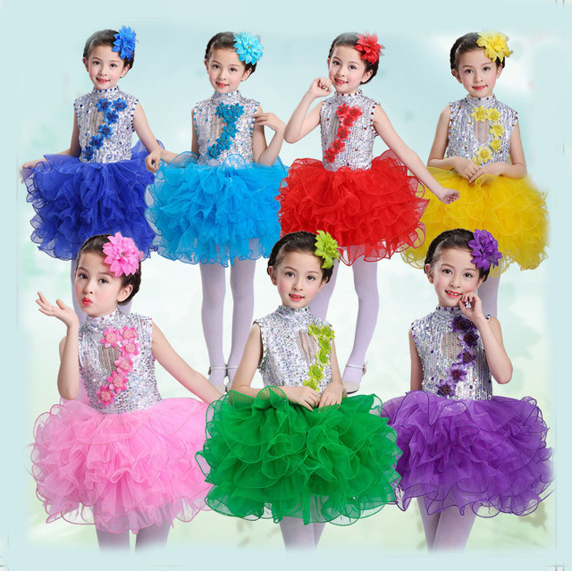 Children S Performance Dresses Princess Panthers Dance Costumes Kindergarten Dancing