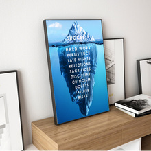 Iceberg of Success Canvas Poster Landscape Motivational Wall Art Quote Nordic Print Picture Inspirational Modern