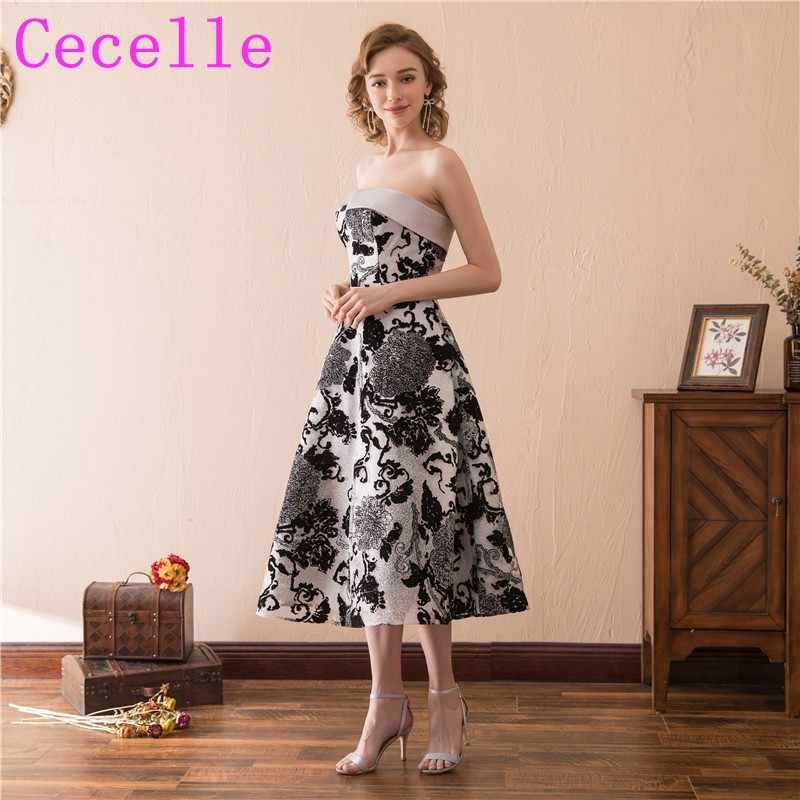 bb179dd1d924 Detail Feedback Questions about Black Lace Vintage Tea Length Gothic ...
