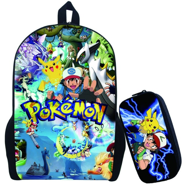 e3b6101739 Anime Pokemon Go Backpack For Teenagers Girls Boys School Bags Pikacun  Children School Backpacks Pokeball Kids Best Gift Bag