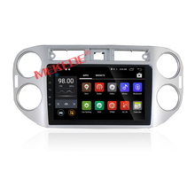 HD 10 pulgadas Android7.1 con 2g Ram 16G coche gps radio player para VW Tiguan ayuda BT 4G WiFi iPod audio video player
