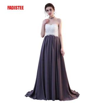 FADISTEE New arrival elegant evening dresses classical strapless formal prom party lace chiffon dress lace-up vestidos de festa