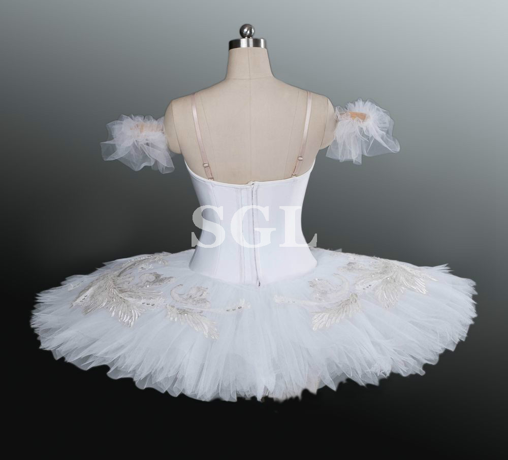 White Swan Tutu Women/Girls Professional Ballet Tutu Adult  Matcracker White Tutu For Competition Dance Costumes AT1157