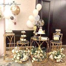 5 adet düğün sahne parti Dim Sum kek standı akrilik demir silindirik tatlı masa ön fonksiyonlu alan dekor düğün çerçeve raf