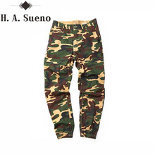 Здесь можно купить  H.A. Sueno Urban Clothing For Men track pant Joggers camo Cotton Pants Casual Hip Hop Trousers  Camouflage Streetwear long Pants
