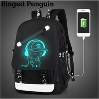 2017 New Brand Canvas Backpack 2 Color External USB Charge School Bag For Men Women 14