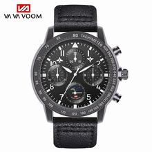 Black Men's Wrist Watch 2019 Best Male Gift Top Brand Luxury 3Bar Water Resistant Leather Alloy Mens Quartz Watches reloj hombre все цены