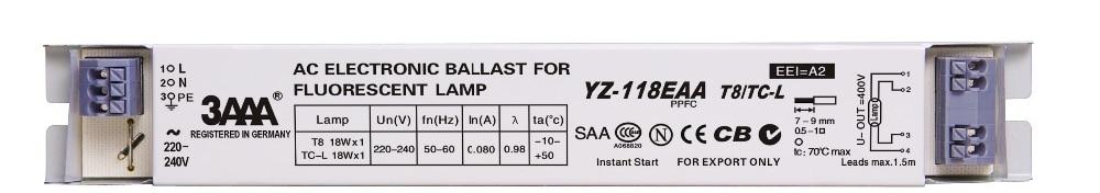 3AAA YZ-118EAA YZ-318EAA YZ-418EAA T8/TC-L 220V 1*18W 4*18W T8