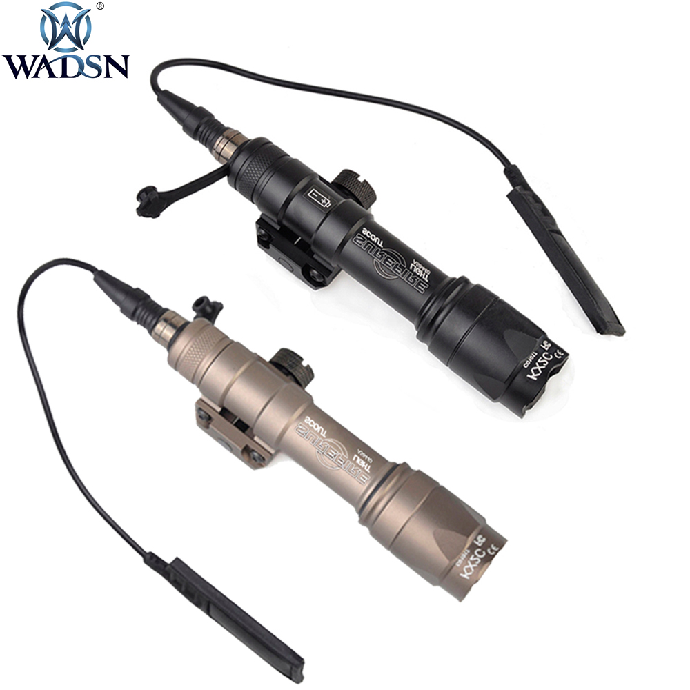 WADSN Tactical M600 M600C MINI Scout Light Outdoor Rifle Hunting Flashlight 340lumens Weapon Light Fit 20m Picatinny Rail