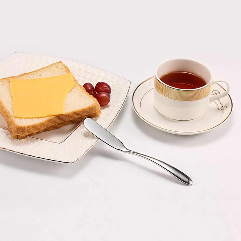 Para o Café Da Manhã Ferramenta Multifuncional de Aço Inoxidável Faca de Manteiga Jam Espalhador de Queijo Creme Facas Utensílio Talheres de Sobremesa de Brinde