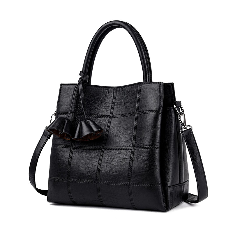 Fashion Women Plaid Bags Luxury Designer Handbags High Quality Leather Shoulder Bag Ladies Casual Tote Woman Sac a Main Handbag kmffly luxury handbags women bags designer genuine leather fashion shoulder bag sac a main marque bolsas ladies casual handbags