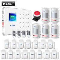Kerui G18 дома охранной сигнализации Системы GSM сигнализация детектор движения Беспроводной дыма работать с IP Wi Fi Камера
