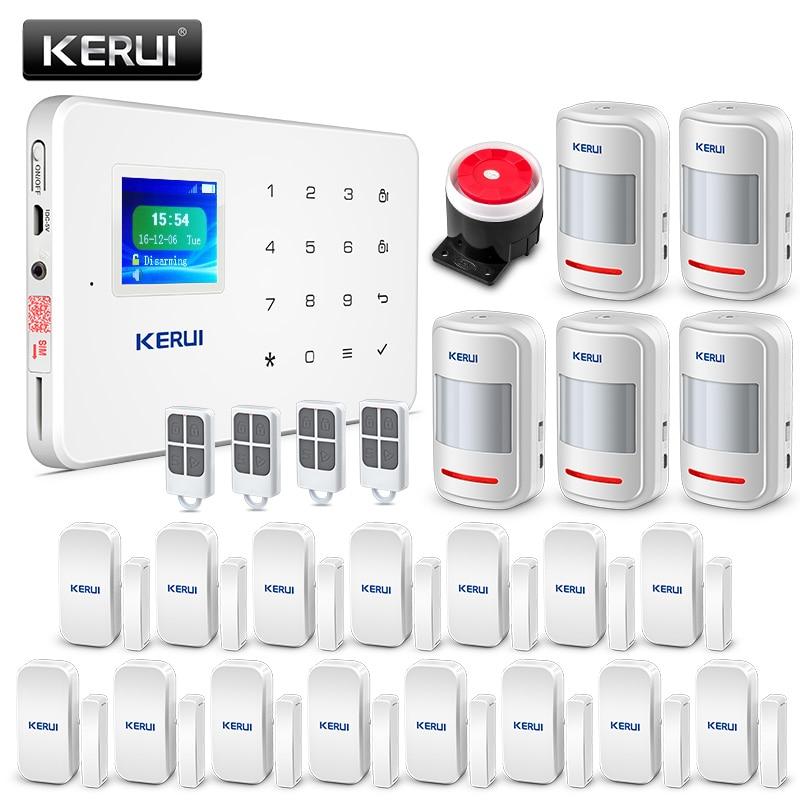 Kerui g18 apps controle sistema de alarme segurança em casa 433 mhz gsm assaltante alarme terno detector de movimento alarmes de seguridad para casa
