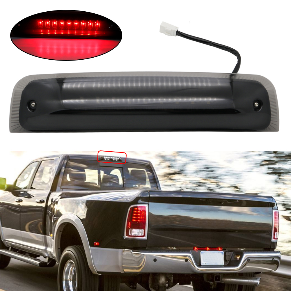 US $27 55 16% OFF|For Toyota Tundra 2007 2018 2nd Gen High Mount Dual Row  LED Rear 3rd Brake Lamp Cargo Lights Smoke/Clear Lens-in Signal Lamp from