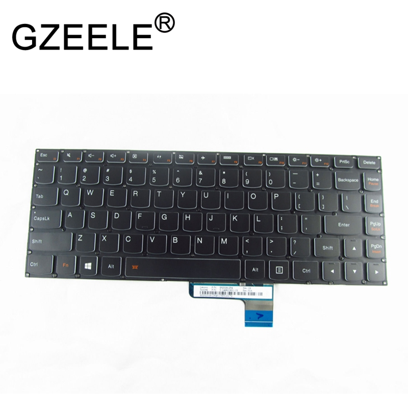 GZEELE New English Keyboard For LENOVO IDEAPAD YOGA 700-14 700-14ISK Yoga 2 13 Keyboard Black US BACKLIT