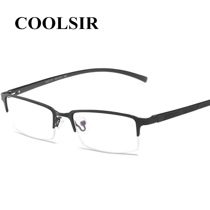 Vintage Men Square Business Clear Glasses Frame Fake Glasses Computer Reading Glasses Clear Lens Optical Metal Spectacles Frame in Men 39 s Sunglasses from Apparel Accessories