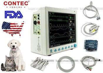 Monitor de paciente de señal vital veterinaria portátil ICU, 6 parámetros, CMS8000VET + ETCO2 CONTEC NIBP