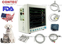 Portable Veterinary ICU vital Sign Patient monitor,6 parameters,CMS8000VET+ETCO2 CONTEC NIBP