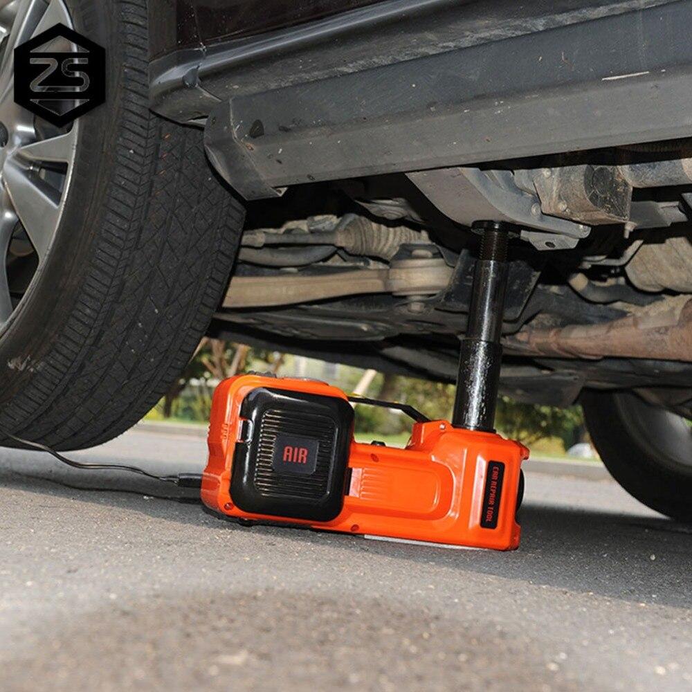 Allemagne Stock!!! Vérins de voiture électriques 5 T vérin de sol hydraulique vérins de pompe de gonflage de pneu de levage automobile avec marteau 12 V 5 tonnes