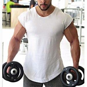 Marka Fitness mężczyźni odzież 2020 nowy mięśni goryl stałe koszulki typu Tank top na siłownię kamizelka hiphopowa odzież uliczna dopasowany bez rękawów koszula
