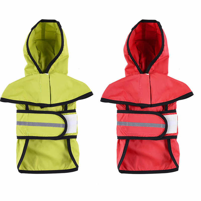 Large Dog Raincoat Clothes Waterproof Rain Jacket Jumpsuit For Pet Large Dogs Puppy Red color  S/M/L/XL/XXL NEW
