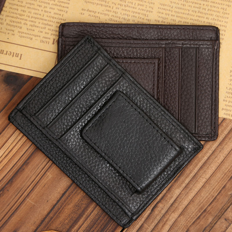 Fashion Men PU Leather ID Card Credit Cards Holder  Business Pocket Super Slim Wallet Popular