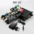 DAC-X3 Волокна Коаксиальный USB DAC 24BIT/192 КГц Усилитель Для Наушников Усилитель Amplificador Черный Декодирования Декодер Цифрового Аудио Усилители
