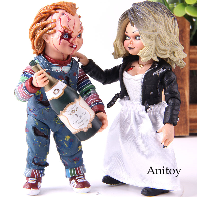 NECA Horrorible Movie Action Figure Bride Of Chucky Ultimate Chucky & Tiffany PVC Collection Model Toy Chucky Gets LuckyNECA Horrorible Movie Action Figure Bride Of Chucky Ultimate Chucky & Tiffany PVC Collection Model Toy Chucky Gets Lucky