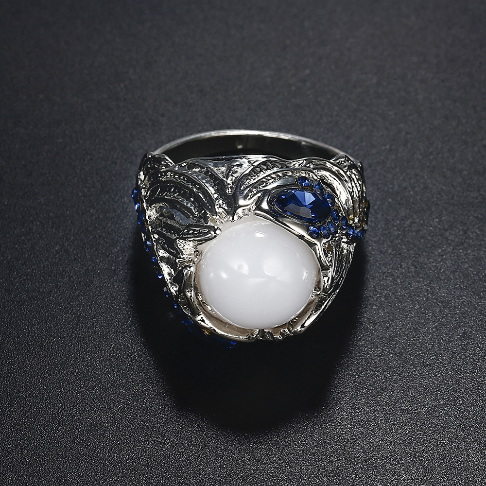 2018 Hot Ring New Moon Stone Cat Eye Flower Jellyfish Sapphire Accessories  Wholesale Women-in Rings from Jewelry   Accessories on Aliexpress.com  b622f5fd26
