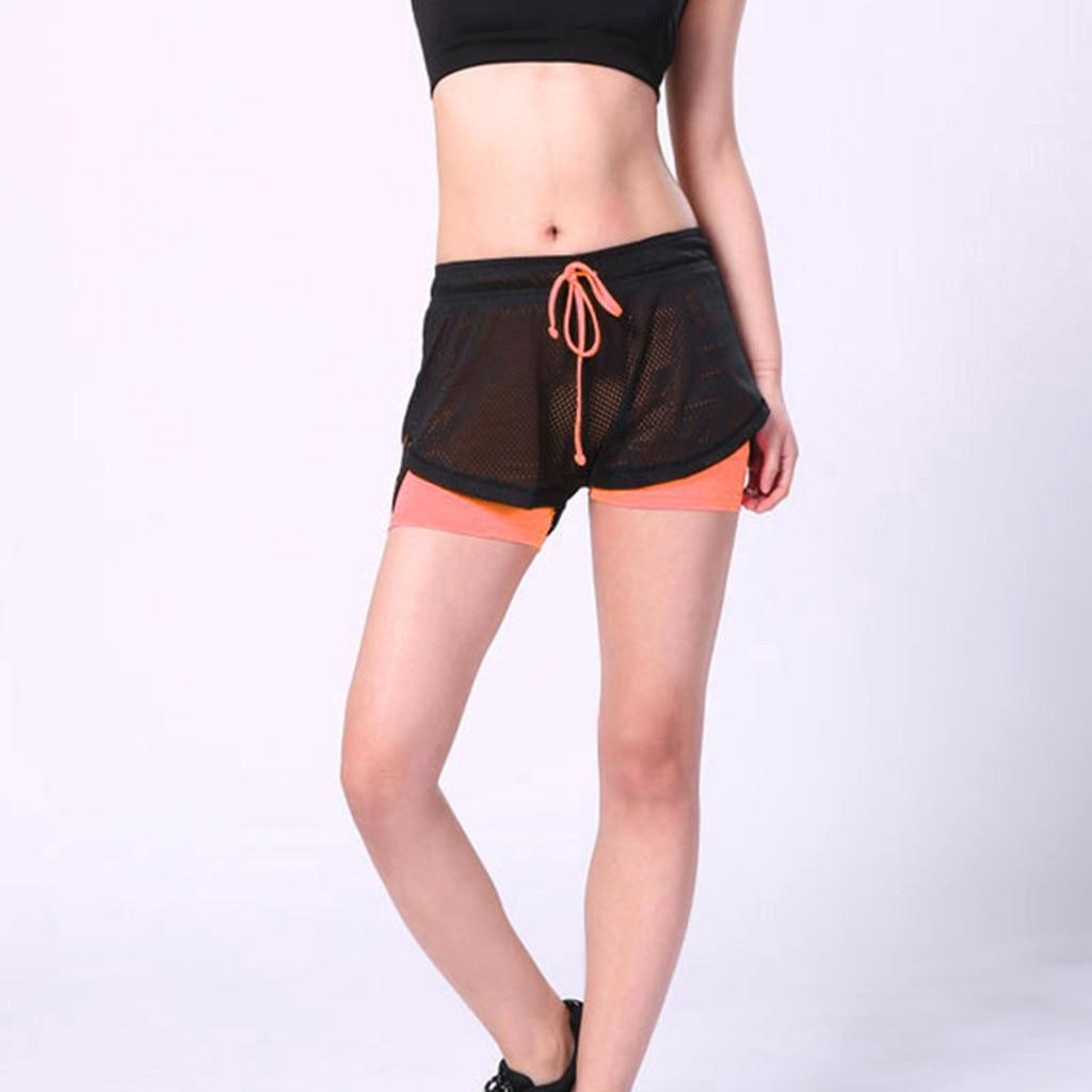 Women Shorts Gym Shorts High Waist Summer Women's Sports Running Polyester Shorts Female Joggings Pantalones Cortos Mujer 7.8