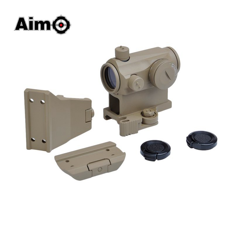 Aim O Red Dot Optics Scope Sight for Air Gun with Quick QD Mount oblique Offset Mount Airsoft T-1 Fits 20mm Rails AO5052