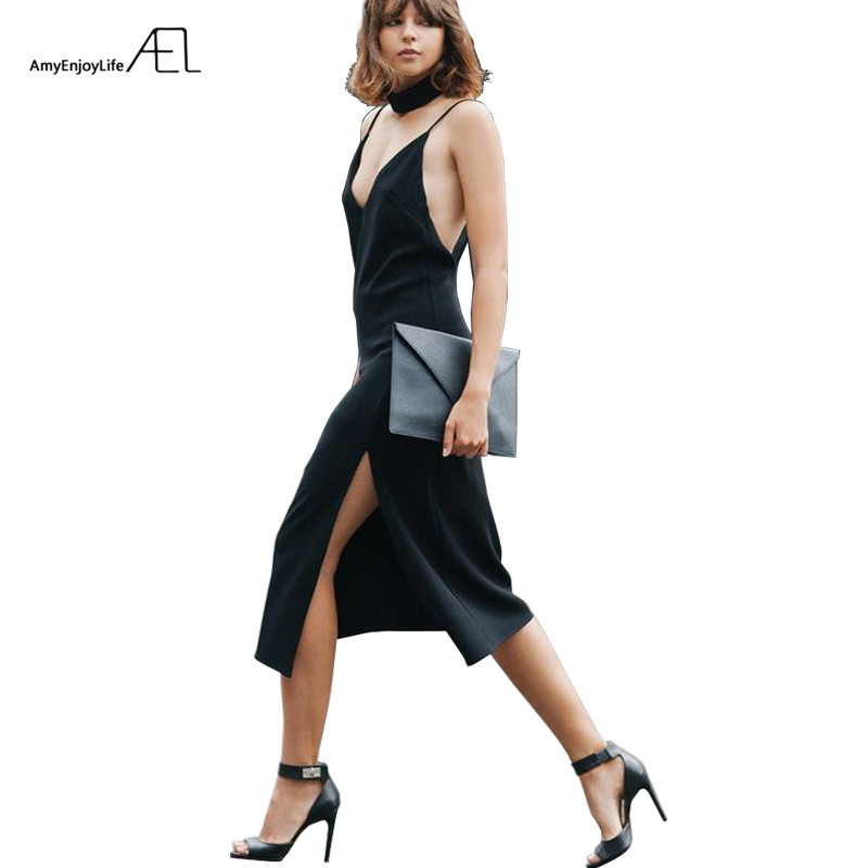 AEL Summer Women Dress Sexy Black Off Shoulder Party Sundress Casual Elegant Dames Womens Clothing 2017 High Quality