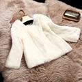 Nuevo otoño y el invierno 2017 delgado abrigo corto de la mujer gruesa completo de piel de conejo de piel abrigo de las mujeres chaqueta de algodón acolchado libre gratis