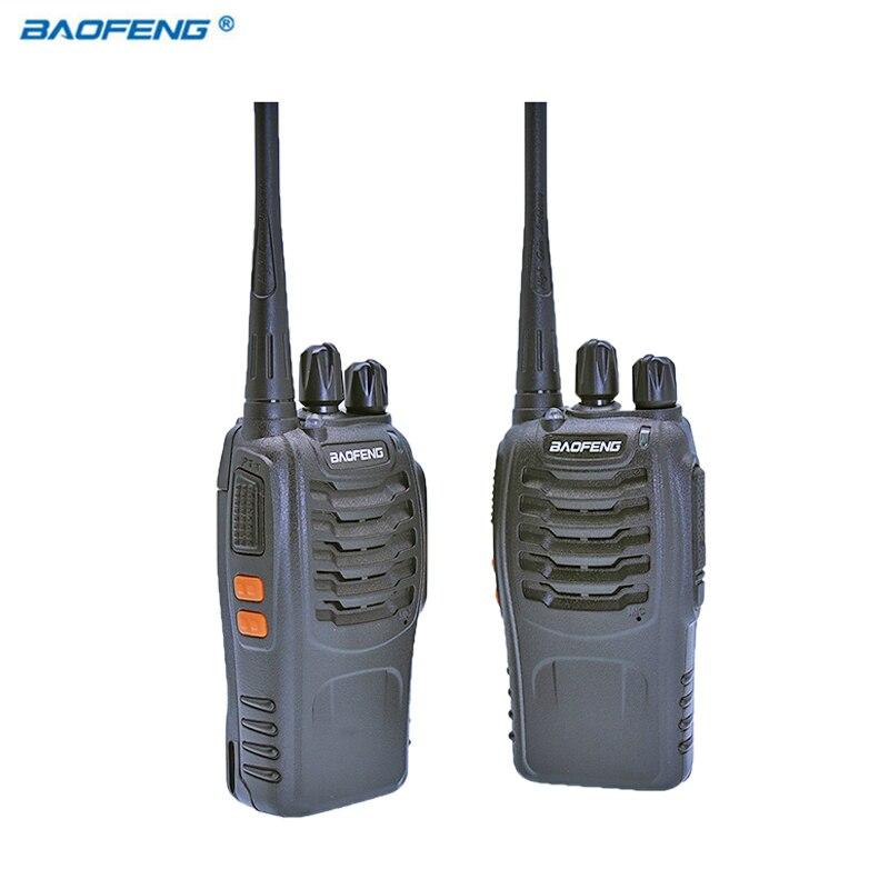 2 PCS Baofeng BF-888S Walkie Talkie Rádio Transceptor Portátil UHF CB HAM Rádios Comunicador BF 8 S Estéreo